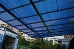 плоски поликарбонатни навеси за обществени сгради