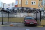 изграждане на навес от метал за 2 автомобила