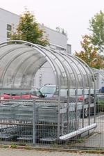 изграждане на дъговидни навеси от поликарбонат за обществени сгради