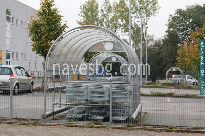 изграждане на дъговидни поликарбонатни навеси